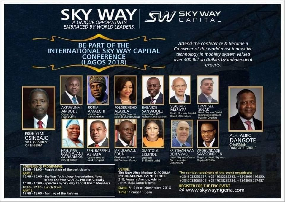 SkyWay String Transport in TVC News Nigeria