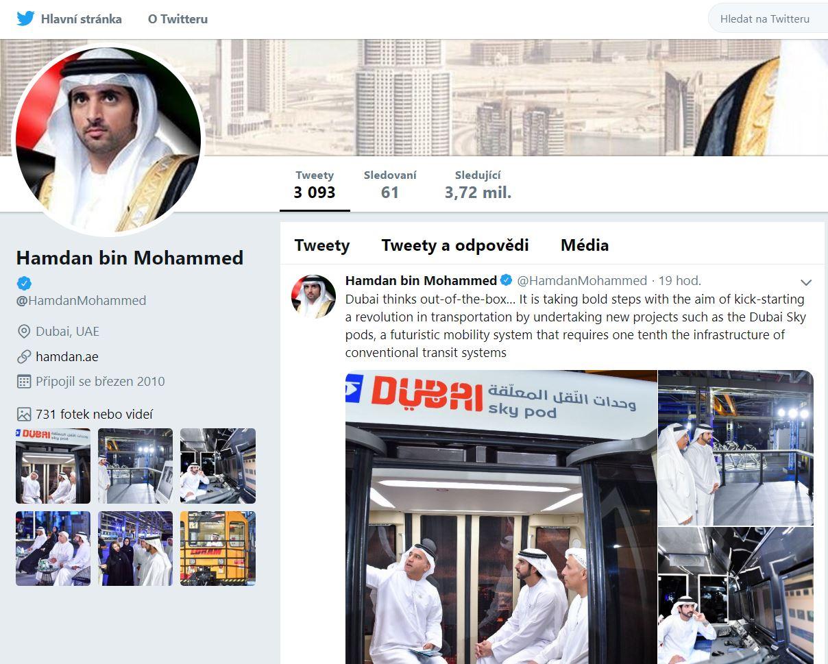SAE: po Sarjahu bude SkyWay také v Dubaji, korunní princ sleduje proces implementace